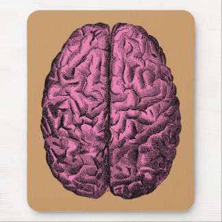 Cerebro humano de la anatomía alfombrilla de ratón
