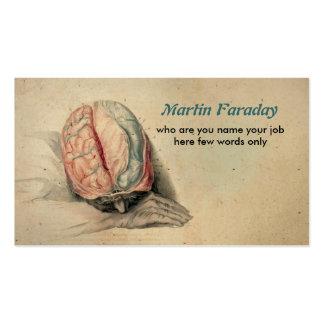 cerebro humano médico de la tarjeta de visita