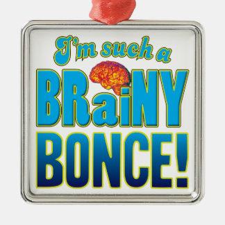 Cerebro inteligente de Bonce Adorno Cuadrado Plateado