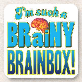 Cerebro inteligente de la caja del cerebro posavaso