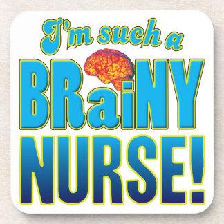 Cerebro inteligente de la enfermera posavasos de bebida