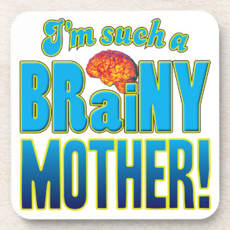 Cerebro inteligente de la madre posavasos de bebida