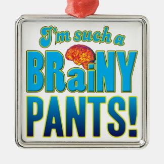 Cerebro inteligente de los pantalones adorno cuadrado plateado