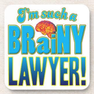 Cerebro inteligente del abogado posavasos