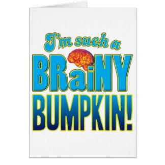 Cerebro inteligente del Bumpkin Tarjeta De Felicitación