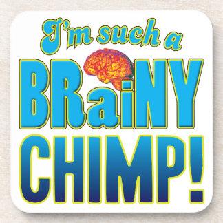 Cerebro inteligente del chimpancé posavasos de bebida