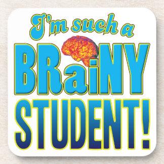 Cerebro inteligente del estudiante posavasos de bebida