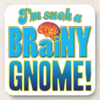 Cerebro inteligente del gnomo posavasos de bebida