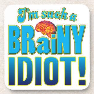 Cerebro inteligente del idiota posavasos de bebidas