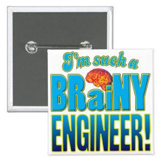 Cerebro inteligente del ingeniero pin cuadrado