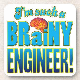 Cerebro inteligente del ingeniero posavasos de bebida