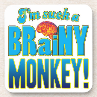 Cerebro inteligente del mono posavasos