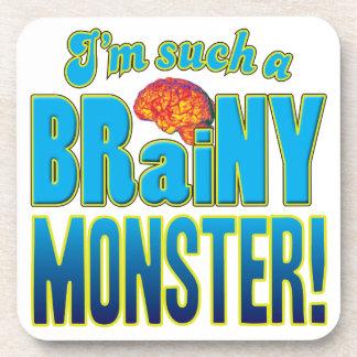 Cerebro inteligente del monstruo posavasos de bebida