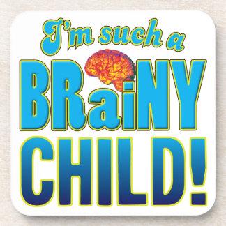 Cerebro inteligente del niño posavasos de bebida