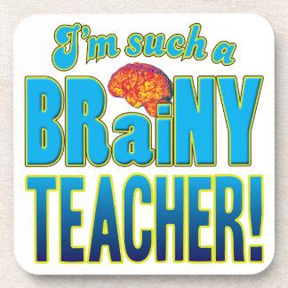 Cerebro inteligente del profesor posavasos