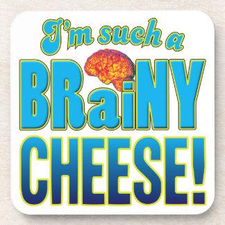 Cerebro inteligente del queso posavasos de bebidas
