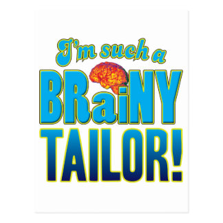 Cerebro inteligente del sastre tarjeta postal