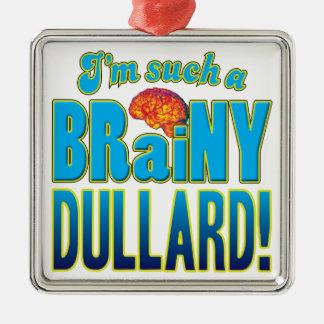 Cerebro inteligente del tonto adorno cuadrado plateado