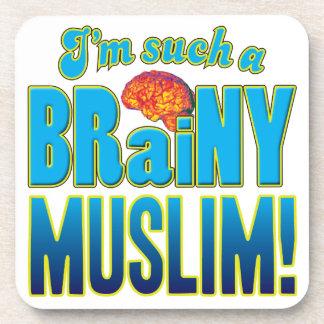 Cerebro inteligente musulmán posavasos de bebidas
