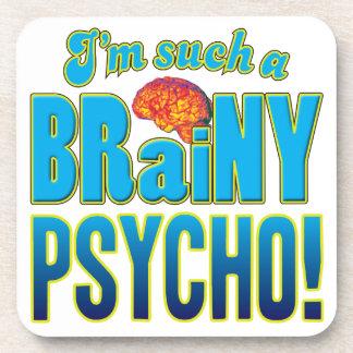 Cerebro inteligente psico posavasos de bebida