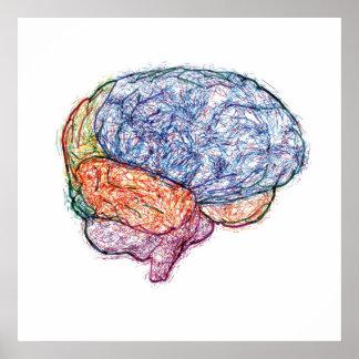 cerebro impresiones