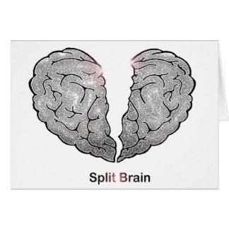 Cerebro partido tarjeta de felicitación