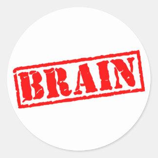 Cerebro Pegatinas Redondas