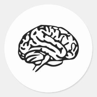 Cerebro Etiquetas Redondas