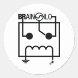 Cerebro Silo Sticker1 Etiqueta Redonda