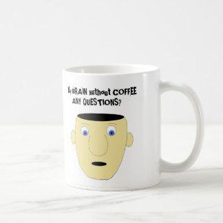 CEREBRO SIN la taza de CAFÉ