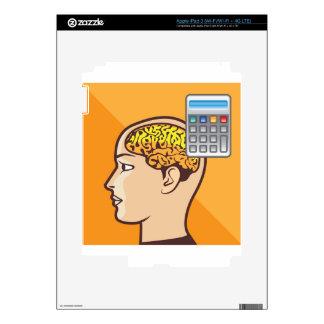 Cerebro y calculadora iPad 3 pegatinas skins