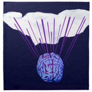 Cerebro y la nube del Internet Servilletas