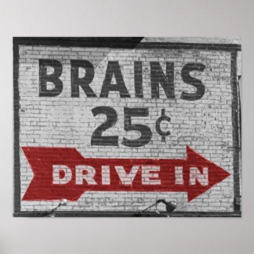 Cerebros 25 centavos póster