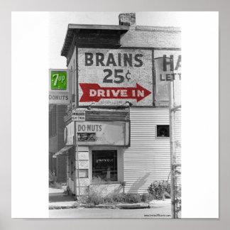 Cerebros color de 25 centavos posters