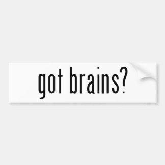 ¿cerebros conseguidos? pegatina para auto