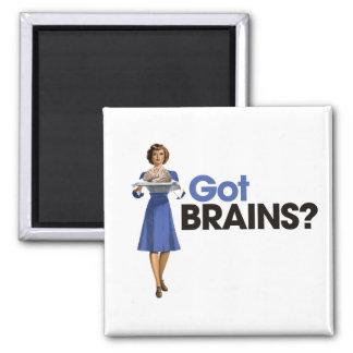 Cerebros conseguidos imán cuadrado