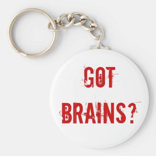 ¿Cerebros conseguidos? Llavero Redondo Tipo Pin