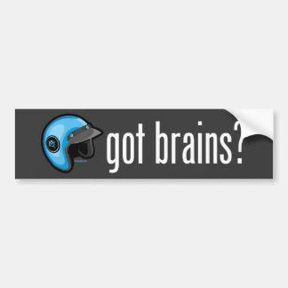 ¿Cerebros conseguidos? Pegatina para el parachoque Pegatina Para Auto