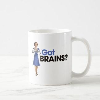 Cerebros conseguidos taza básica blanca