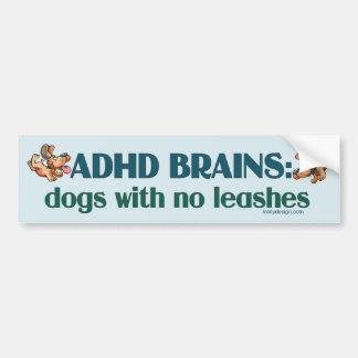 CEREBROS DE ADHD PEGATINA DE PARACHOQUE