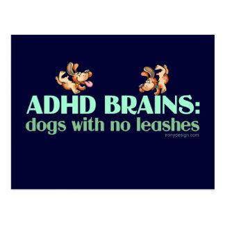 CEREBROS DE ADHD TARJETA POSTAL