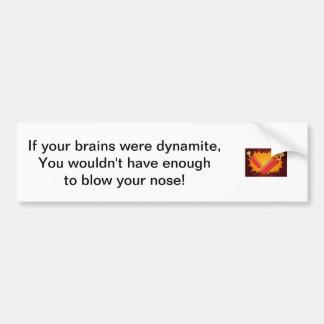Cerebros de la dinamita pegatina de parachoque