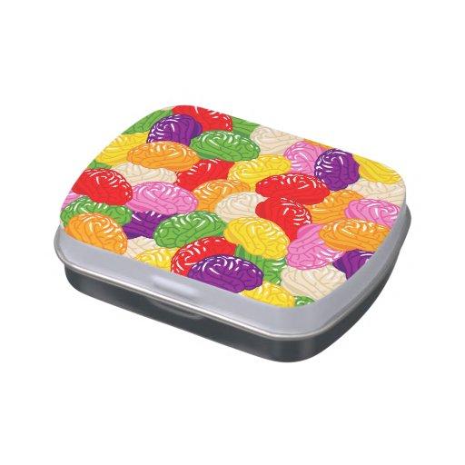 Cerebros de la jalea frascos de caramelos
