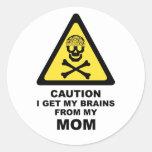 cerebros de la mamá pegatina