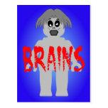 Cerebros de Minifig del zombi ' Tarjeta Postal