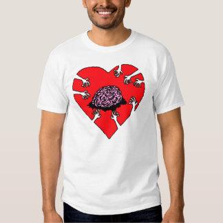 ¡Cerebros (del corazón)! Camiseta ligera Playeras