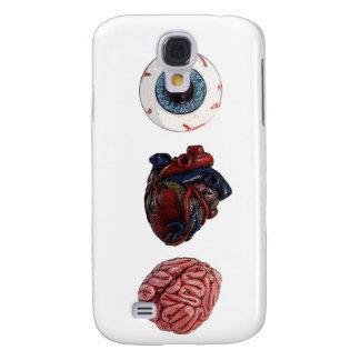 Cerebros del corazón del ojo funda para galaxy s4
