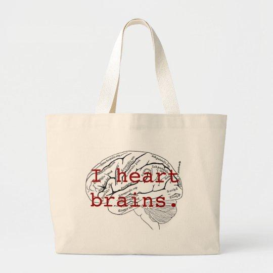 Cerebros del corazón I Bolsa De Tela Grande