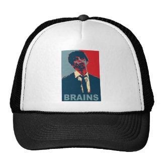 Cerebros del zombi gorros bordados