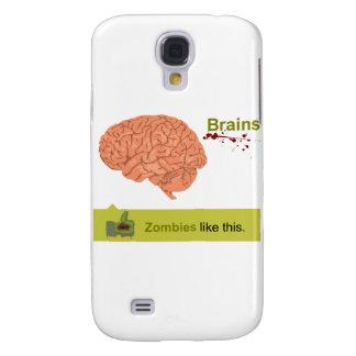 Cerebros - los zombis tienen gusto de esto funda para galaxy s4